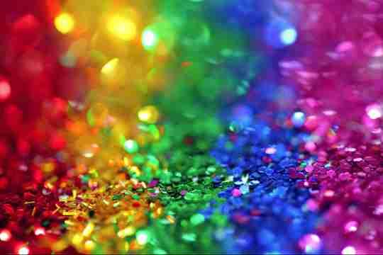 Rainbow of sequins