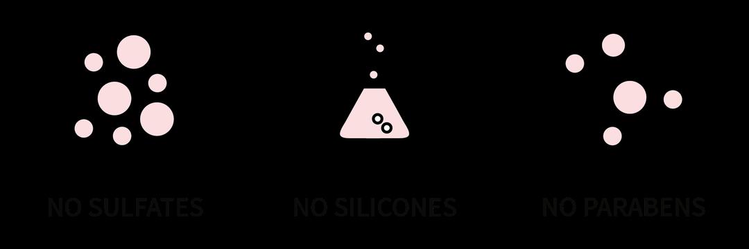 No sulfates, no silicones, no parabens