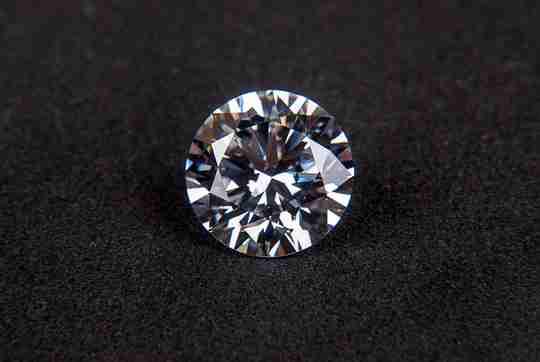 Large diamond on velvet background
