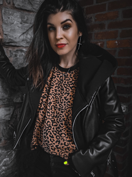 The Christie Leopard Muscle Tee