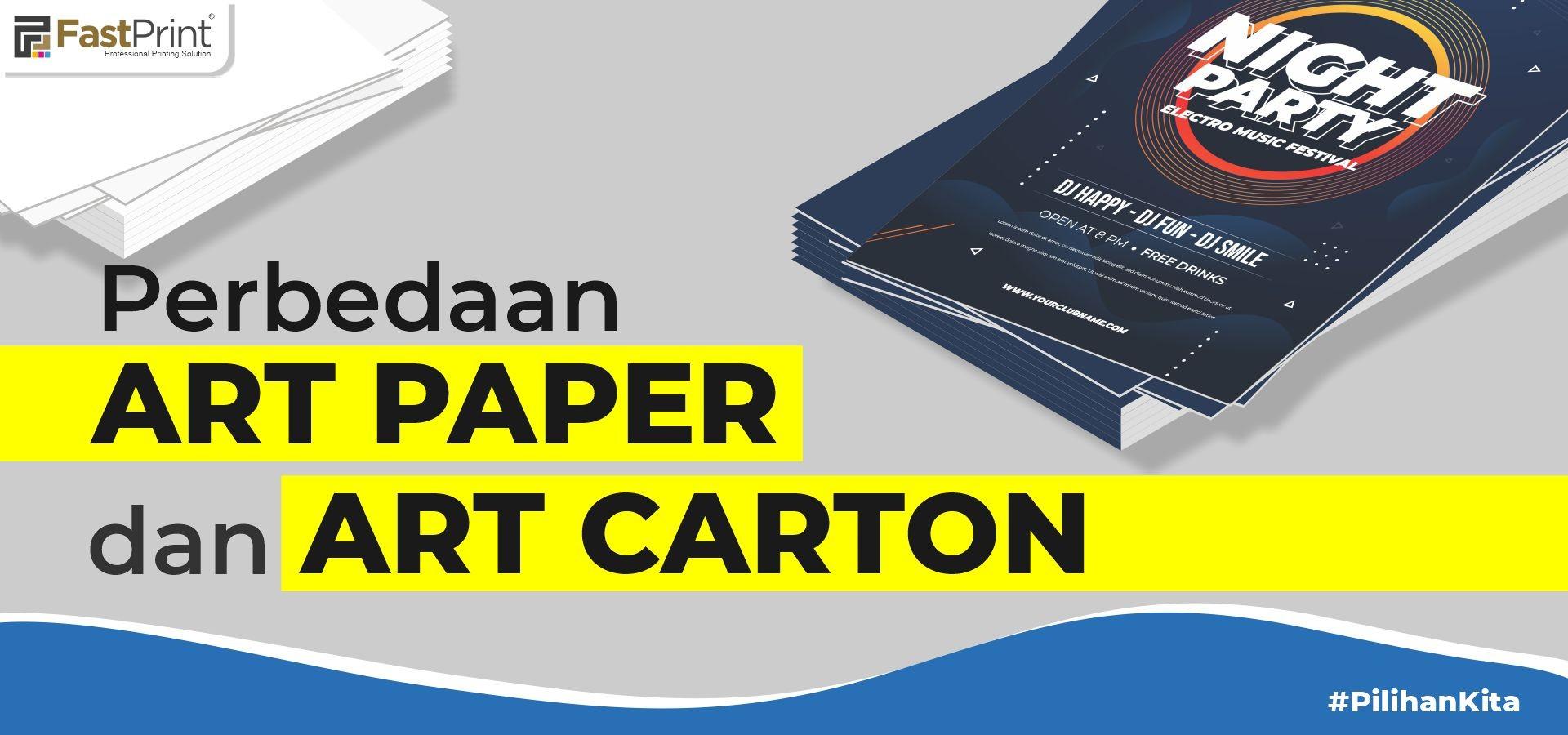 perbedaan art paper dan aer carton, art paper adalah, kertas art paper, jenis kertas art paper