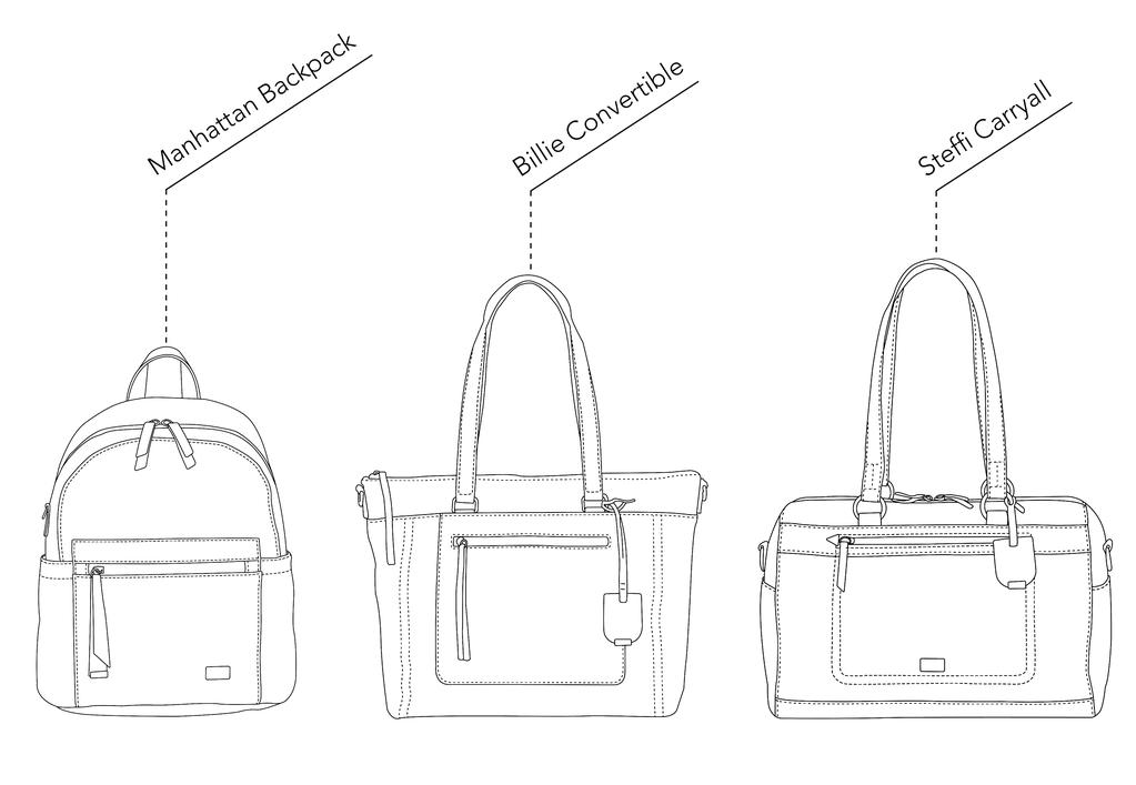 VANCHI bag size comparison