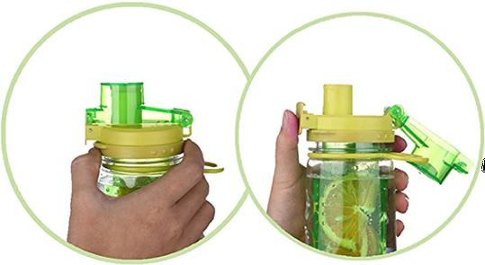 Infuser Water Bottle 25oz - Lime Green - Flip Top