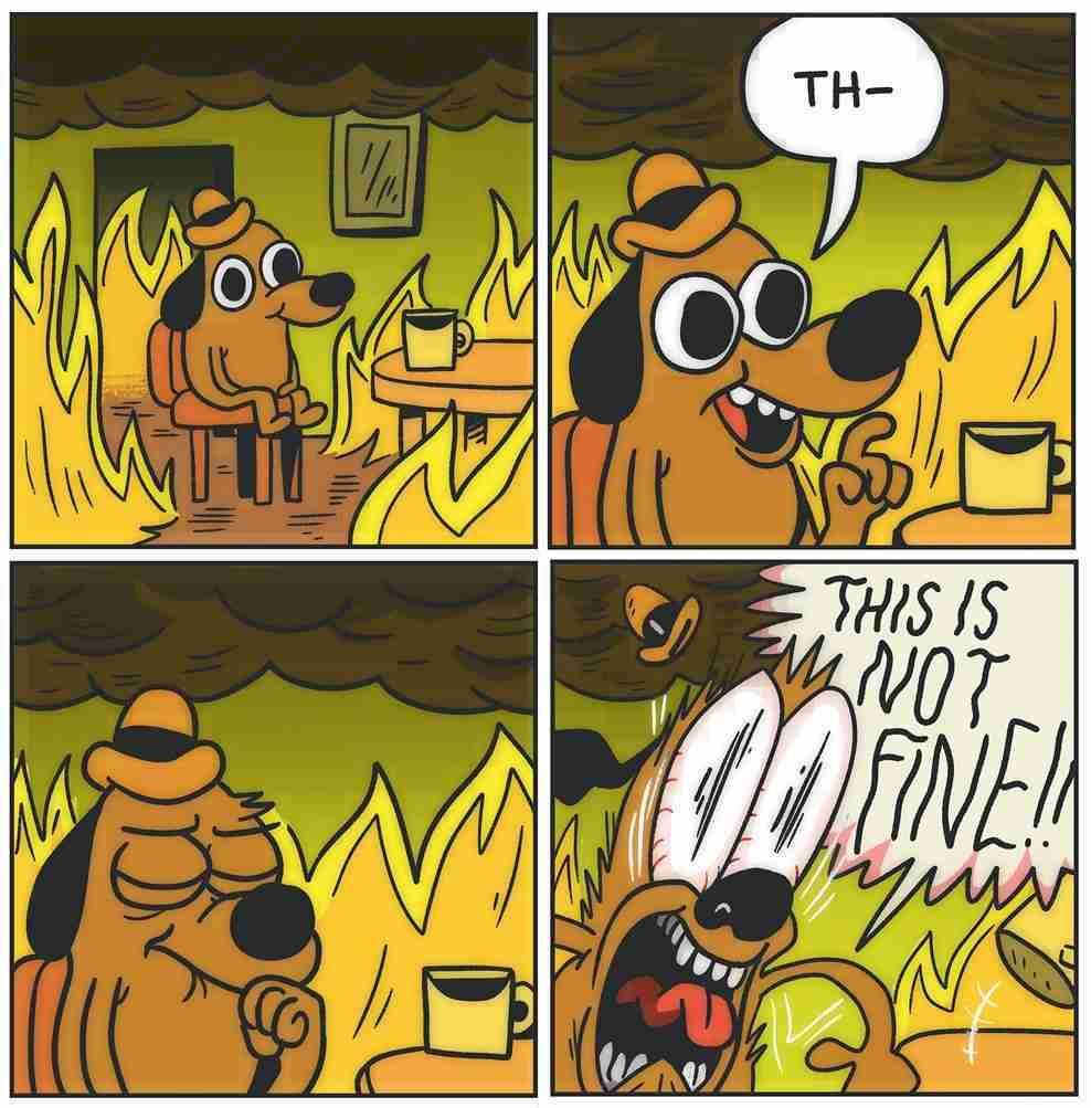 This is not fine IPCC report reaction meme