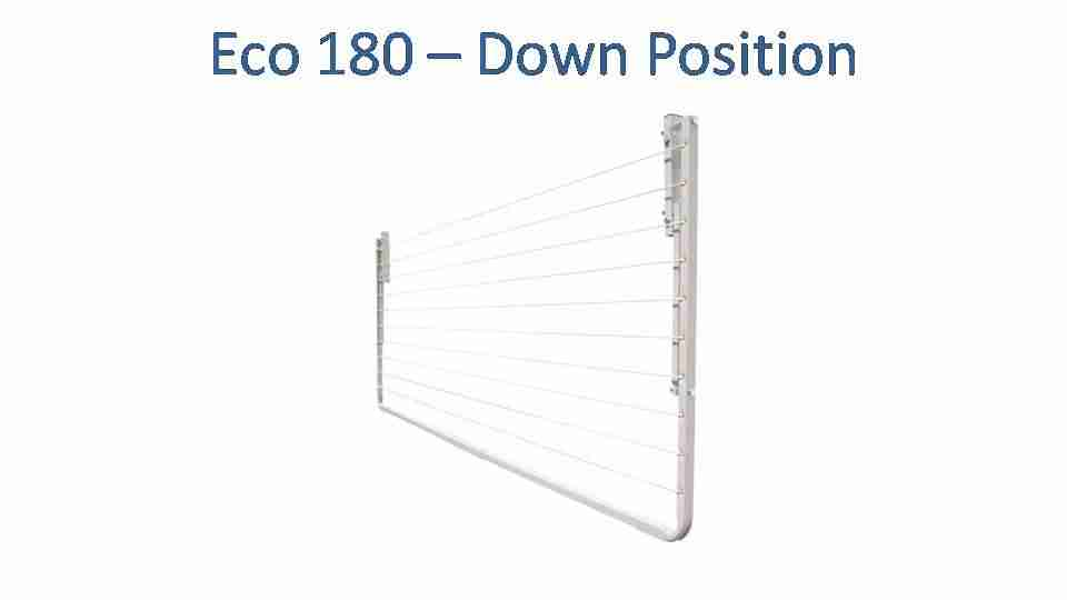 eco 180 1600mm wide clothesline folded down