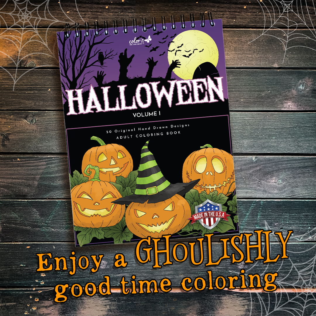 ColorIt Halloween adult coloring book