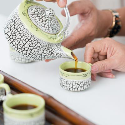 Rooibos Rocks teapot and tea