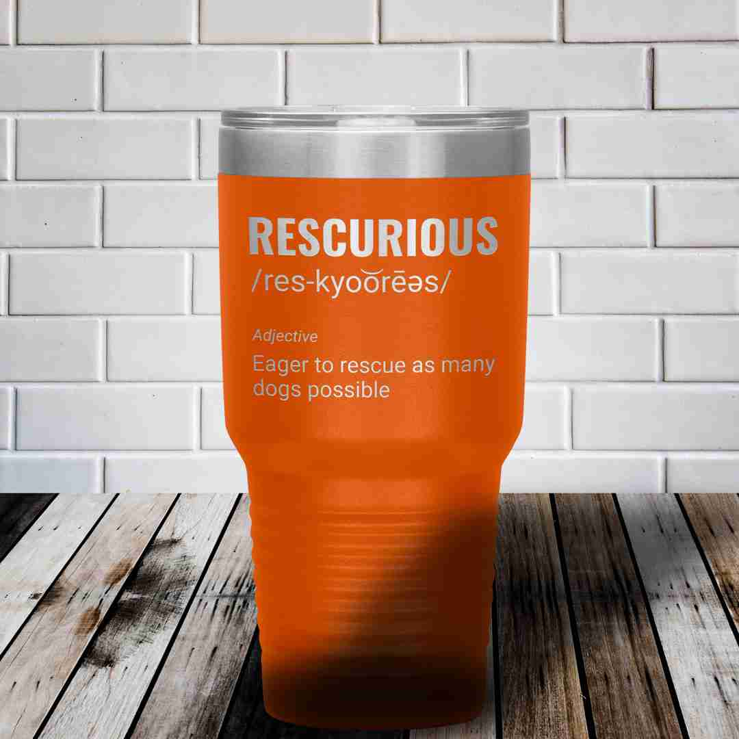 Rescurious dog rescue dachshund stainless steel tumbler