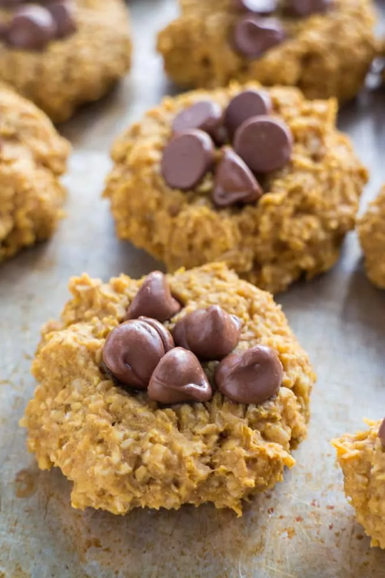 5 Ingredient Healthy Pumpkin Cookies