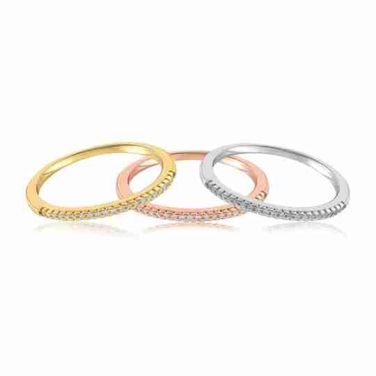 Three Brianna Bezel rings