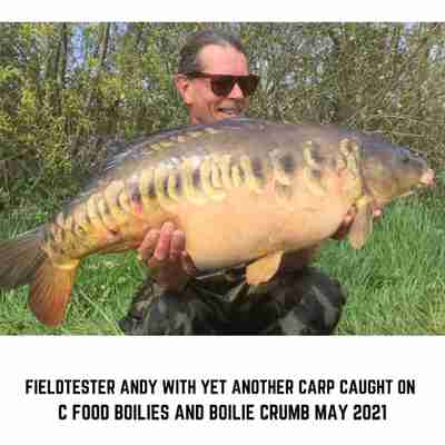 Andy with a Carp caught on C Food Boilies