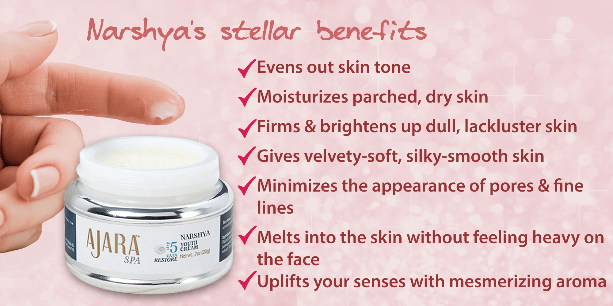 Minimize the appearance of fine lines & pores with Narshya Youth Cream