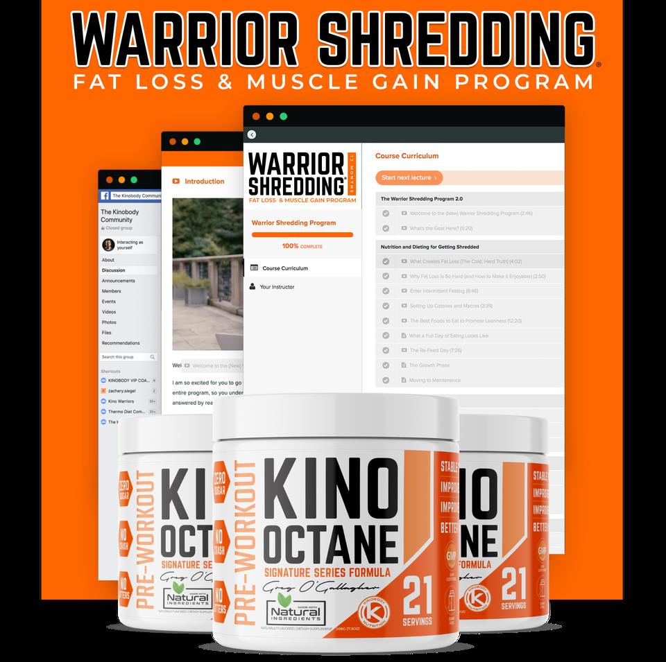 Warrior Shredding Program and 3 Octane