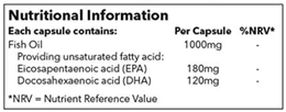 Poor quality omega 3 fish oil ingredients label
