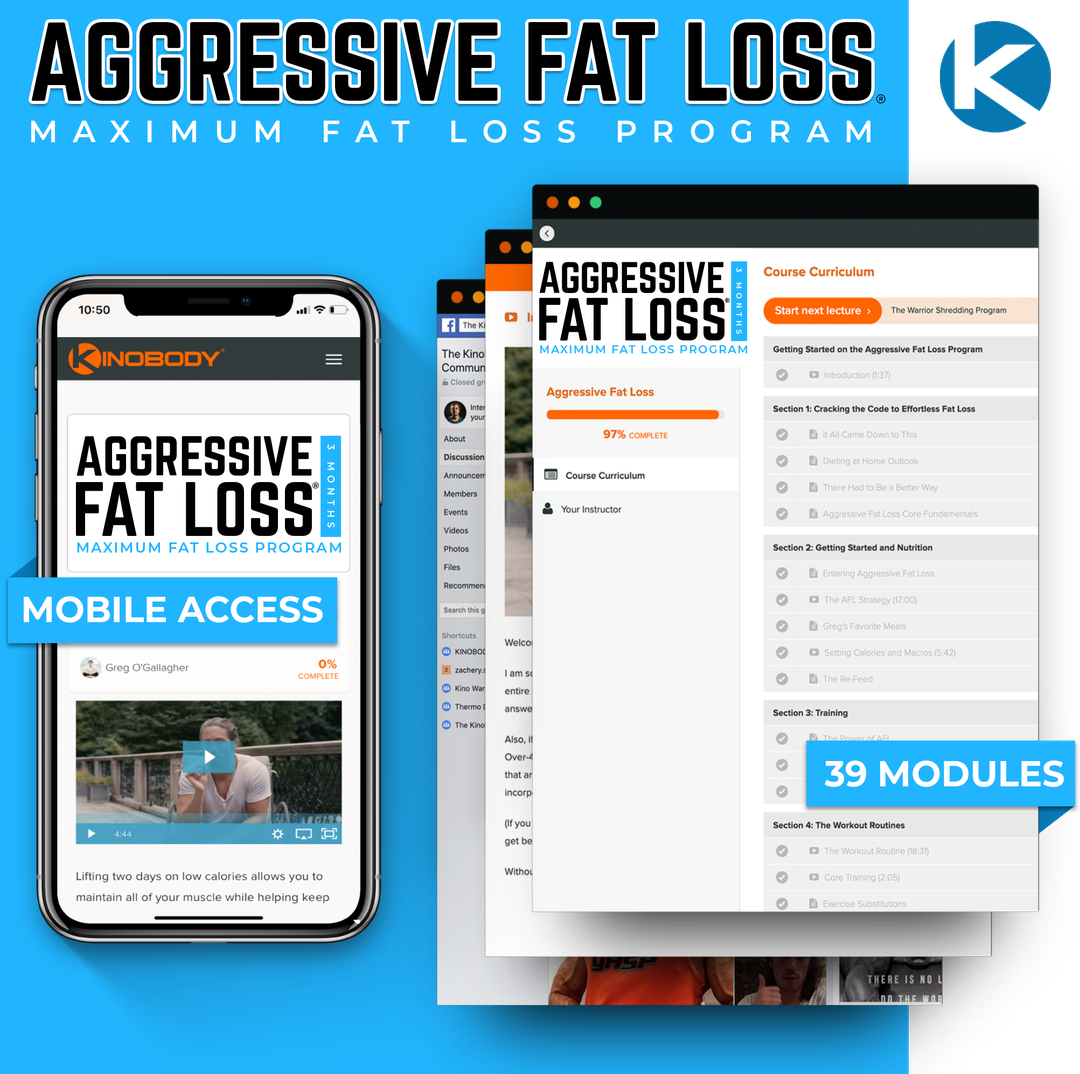 Aggressive Fat Loss Program Example