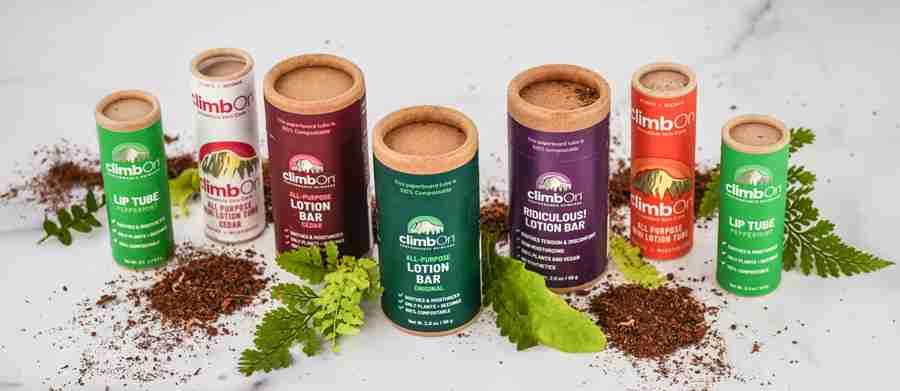 climbOn compostable skincare