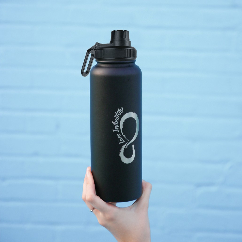 40 ounce Vacuum Insulated Water Bottle With Fruit Infuser Rod