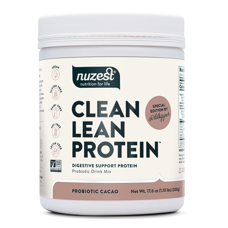 probiotic cacao digestive support protein nuzest